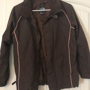 Girls Brown/Pink North Face Jacket